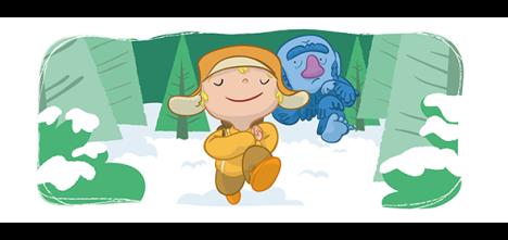 ilustracion infantil trol libro de texto milhojas anaya troll childrenbook educational book illustration fun illustrator digital vector